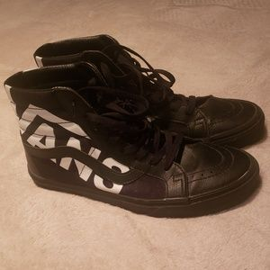 High Top Leather Vans (Size 10)